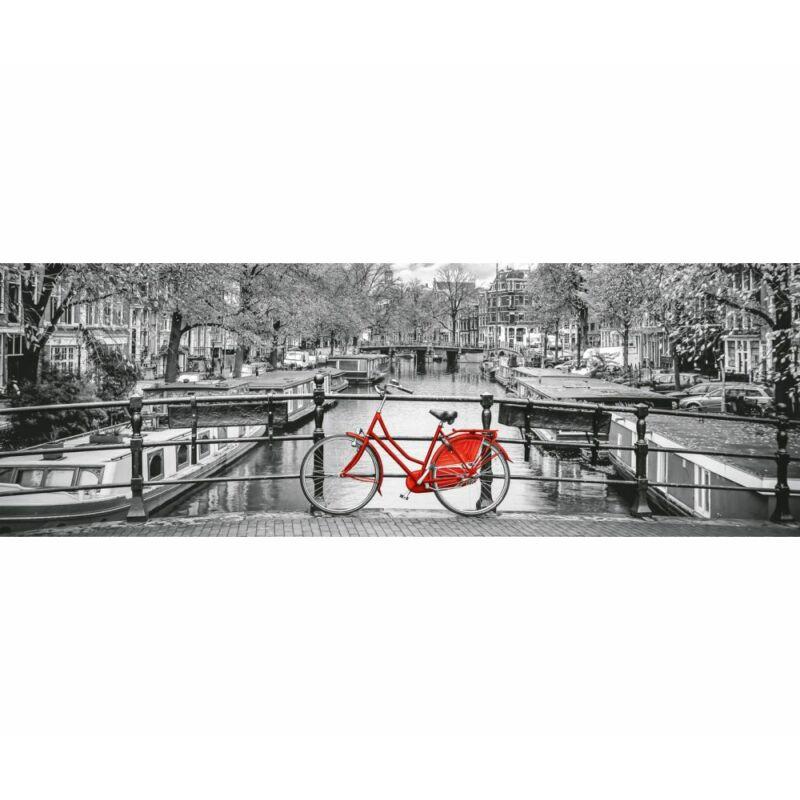 Bicikli Amszterdamban 1000 db-os panoráma puzzle - Clementoni