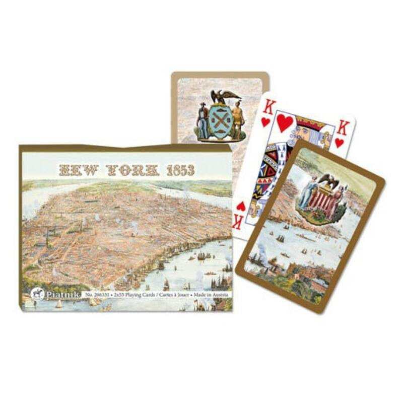 New York 1853 Luxus römi kártya 2x55 lap - Piatnik