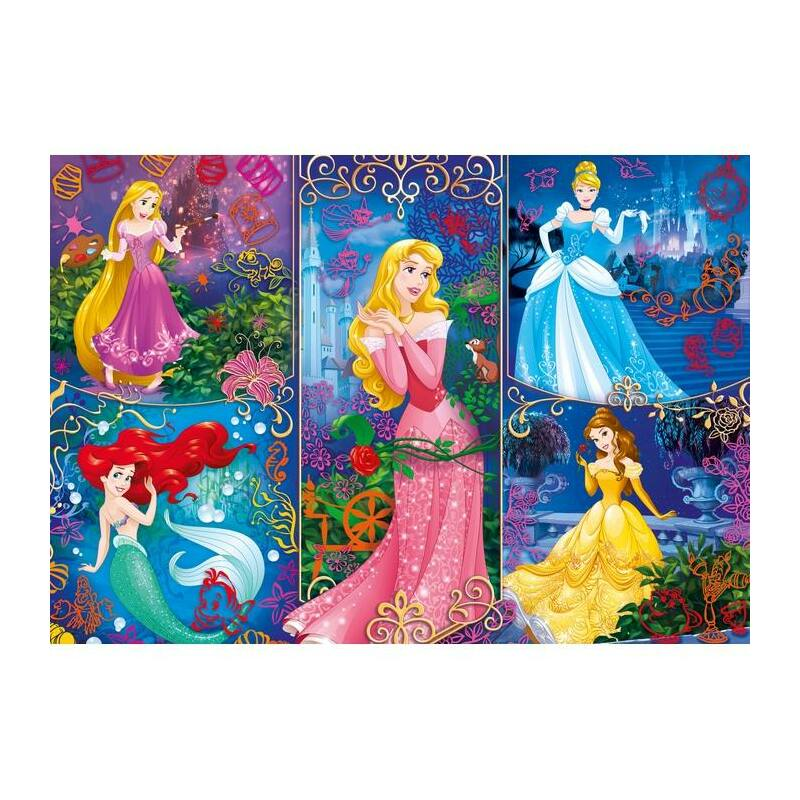 Hercegnők (3D hatású) 104 db-os puzzle - Clementoni