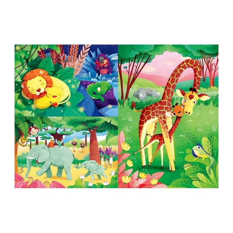 Dzsungel barátok 3x48 db-os puzzle - Clementoni