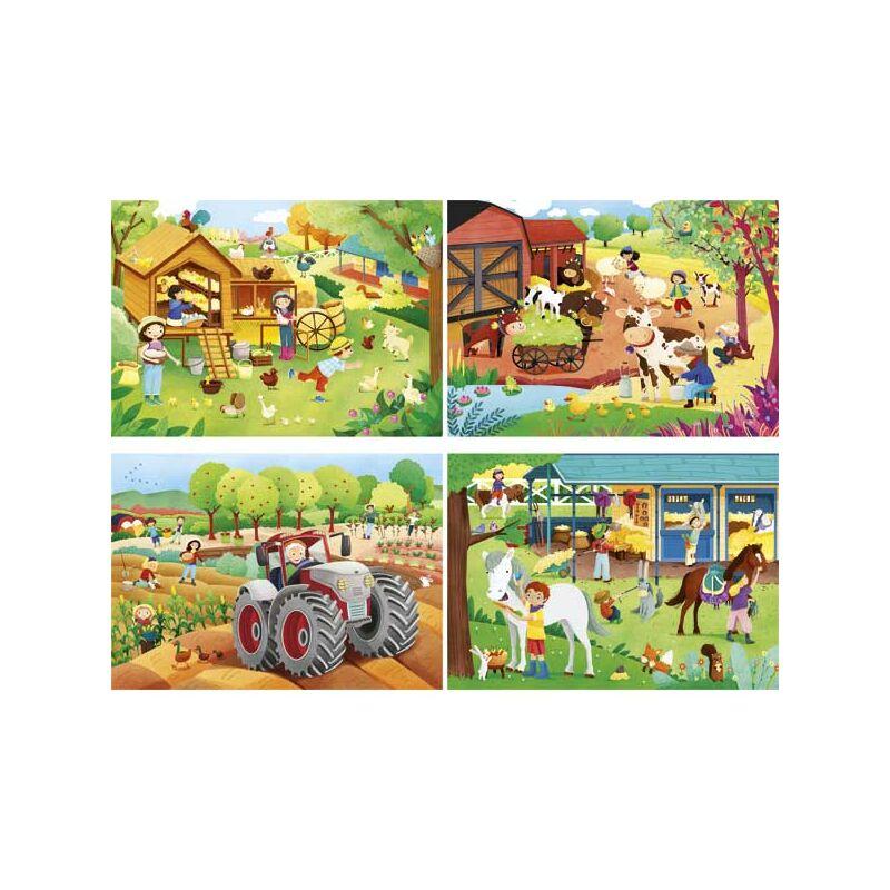 Farm 2x20 és 2x60 db-os puzzle - Clementoni