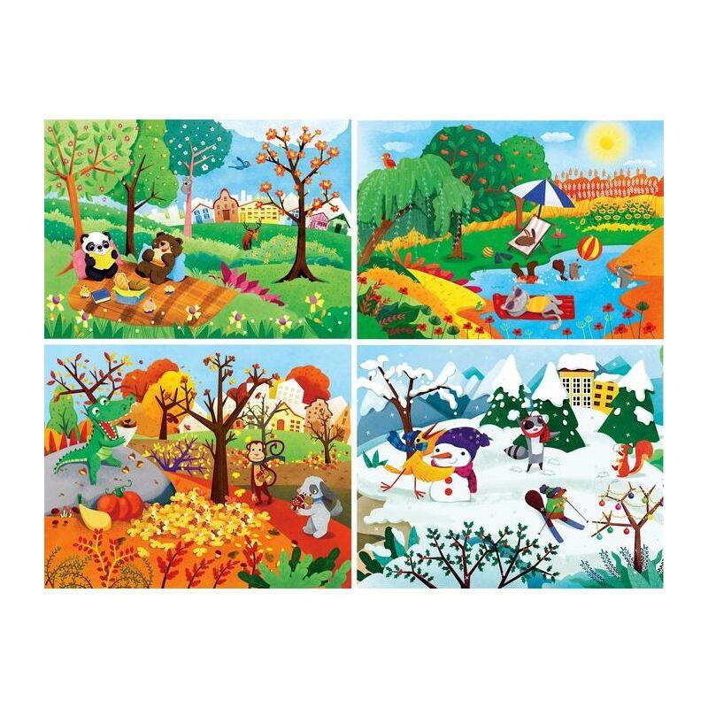 4 évszak 20,60,100,180 db-os puzzle - Clementoni