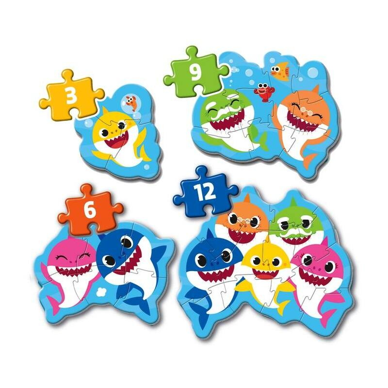 Baby Shark 3,6,9,12 db-os puzzle - Clementoni My First