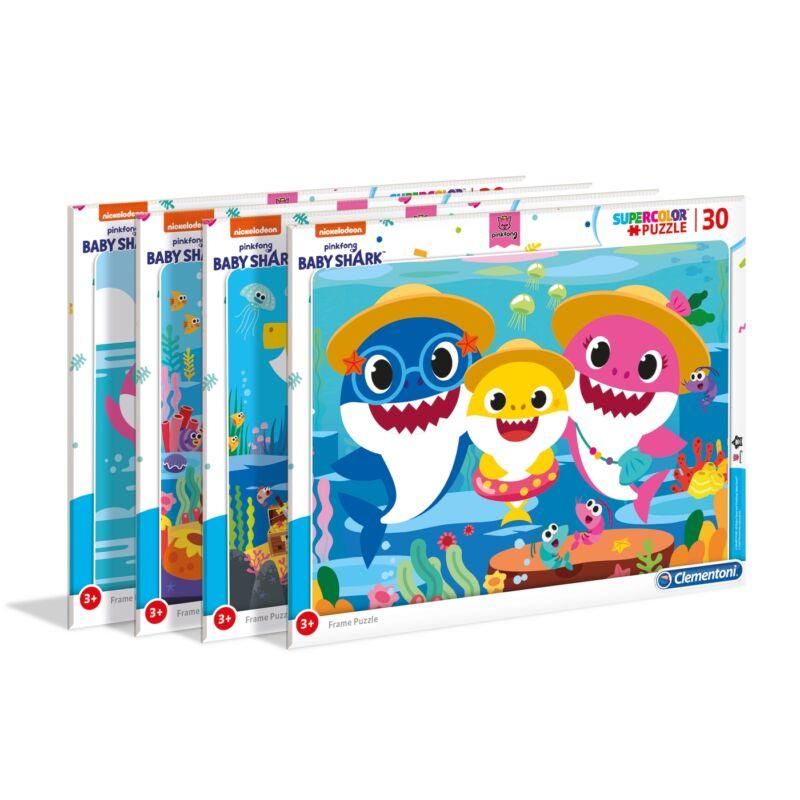 Baby Shark 30 db-os keretes puzzle - Clementoni