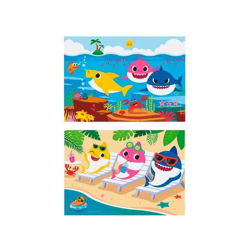 Baby Shark 2x20db-os puzzle - Clementoni