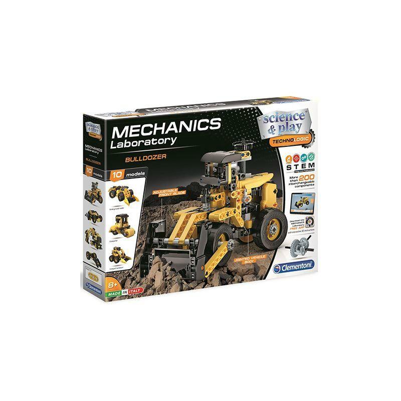 Mechanikus Labor bulldozer építőjáték – Clementoni