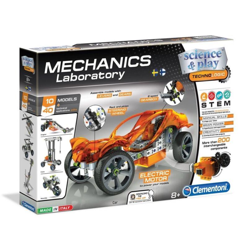 Mechanikus műhely motorizált jármű építőjáték - Clementoni