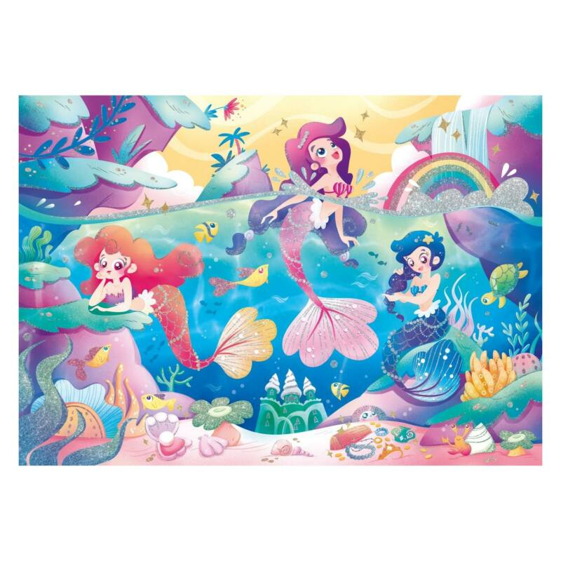 Víz alatt 104 db-os csillogó puzzle - Clementoni
