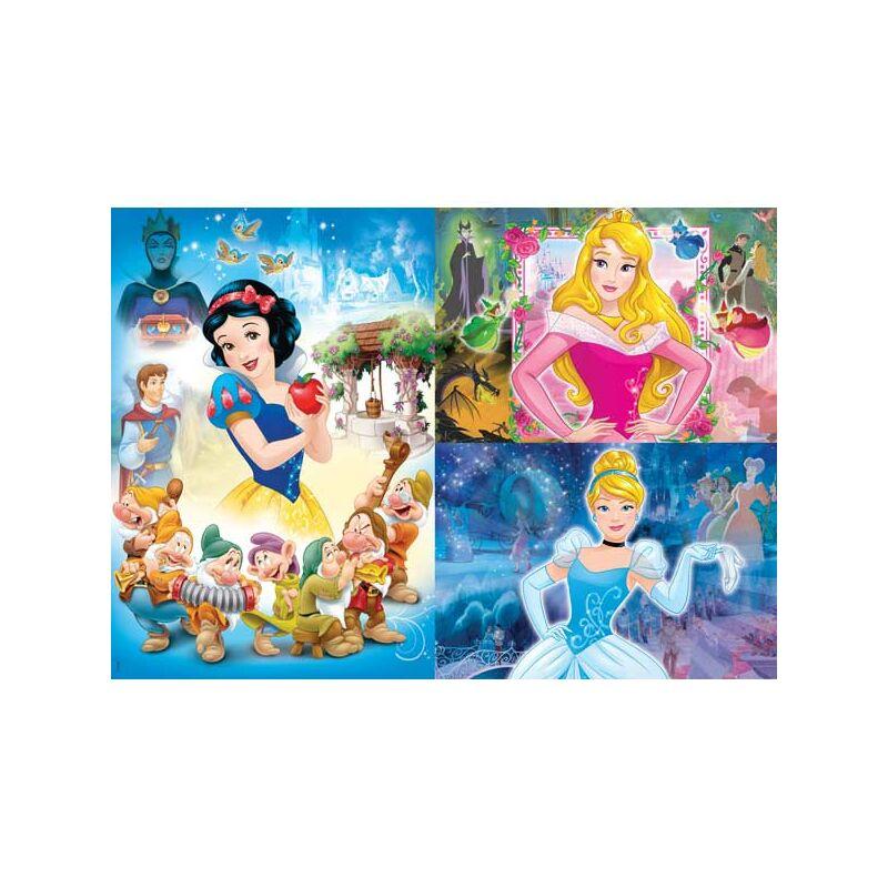 Disney hercegnők 3x48 db-os puzzle - Clementoni