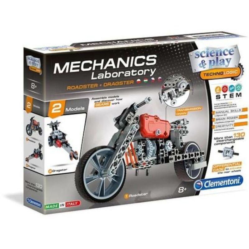 Mechanikus Labor Roadster és Dragster dozer építőjáték – Clementoni