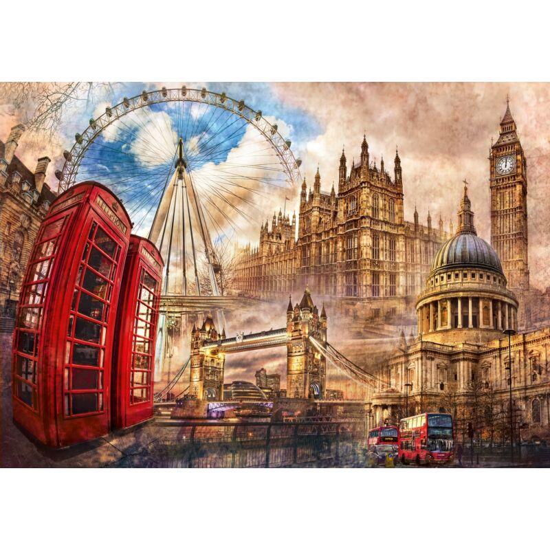 Vintage London 1500 db-os puzzle - Clementoni