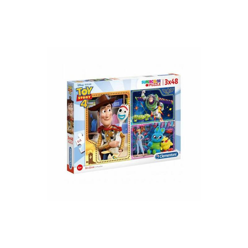 Toy Story 4. 3x48 db-os puzzle - Clementoni