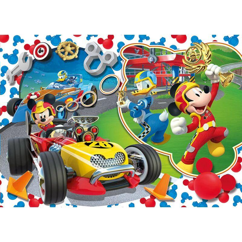 Mickey és az autóversenyzők 104 db-os Maxi puzzle - Clementoni