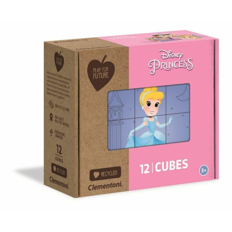 Disney Hercegnők 12 db-os mese kocka - Clementoni