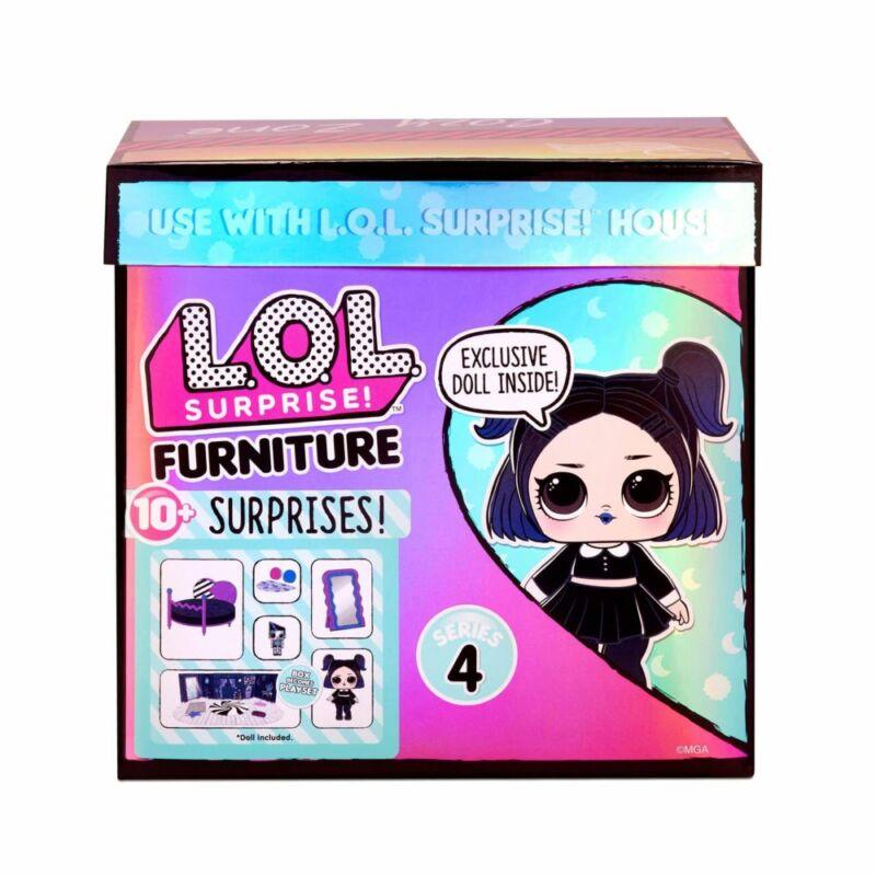 LOL Suprise Furniture S4 - Dusk Doll hálószobája játékszett (Cozy Zone)