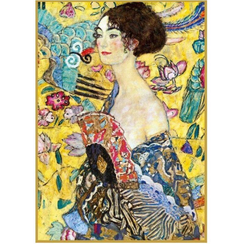 Klimt - Hölgy legyezővel 1000 db-os puzzle - Piatnik