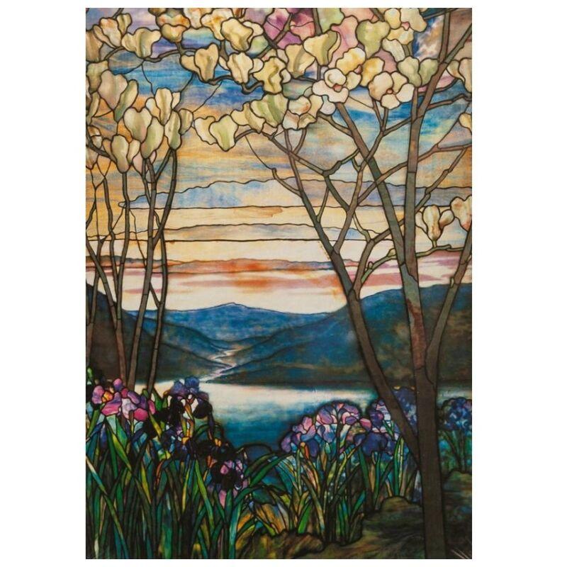 Tiffany- Magnolia és írisz 1000 db-os puzzle - Piatnik