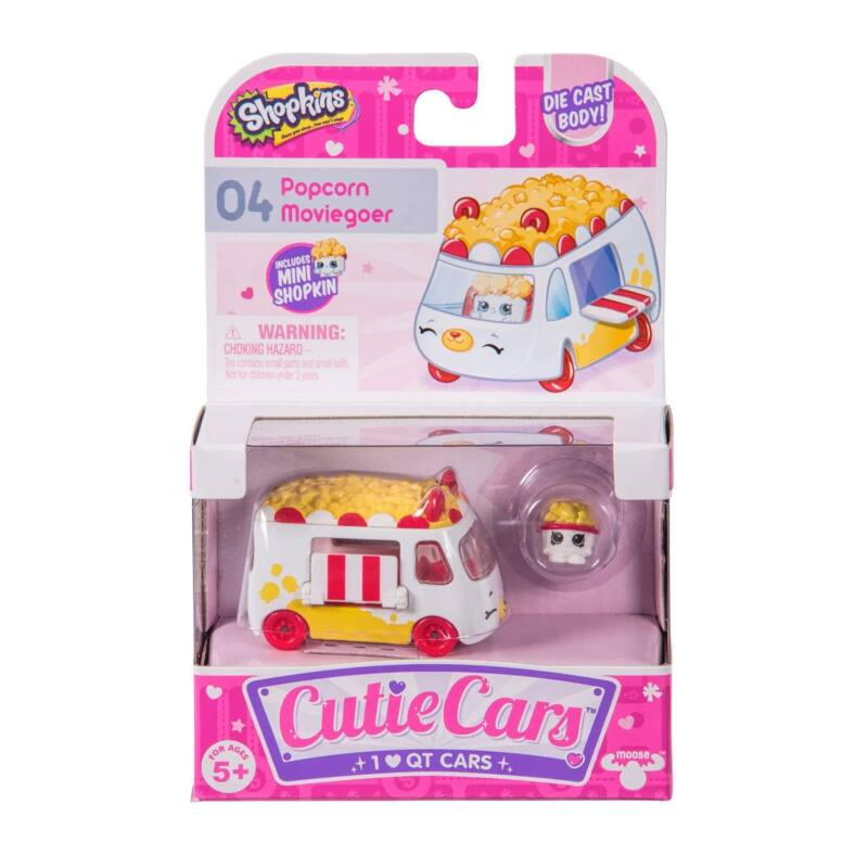 Shopkins Cuki kocsi 1 db-os szett - Popcorn Moziautó (04)