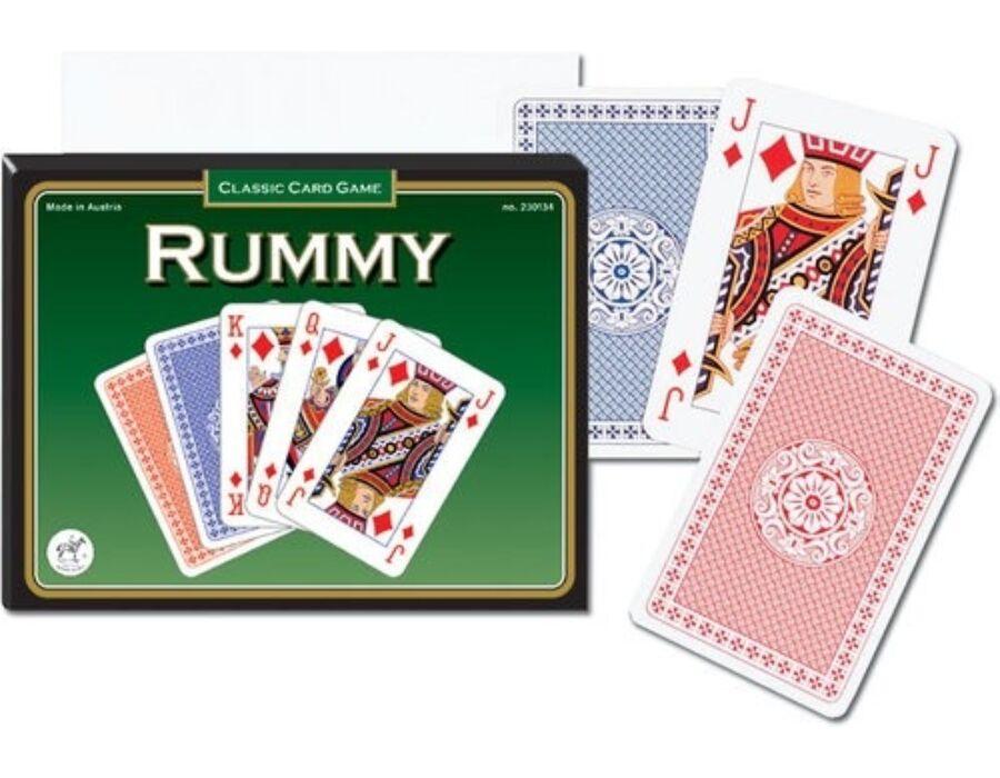 Römi kártya zöld 2 x 55 lapos