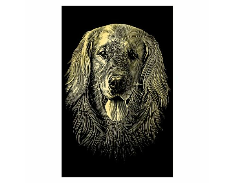 Reeves mini arany képkarcoló kutyus