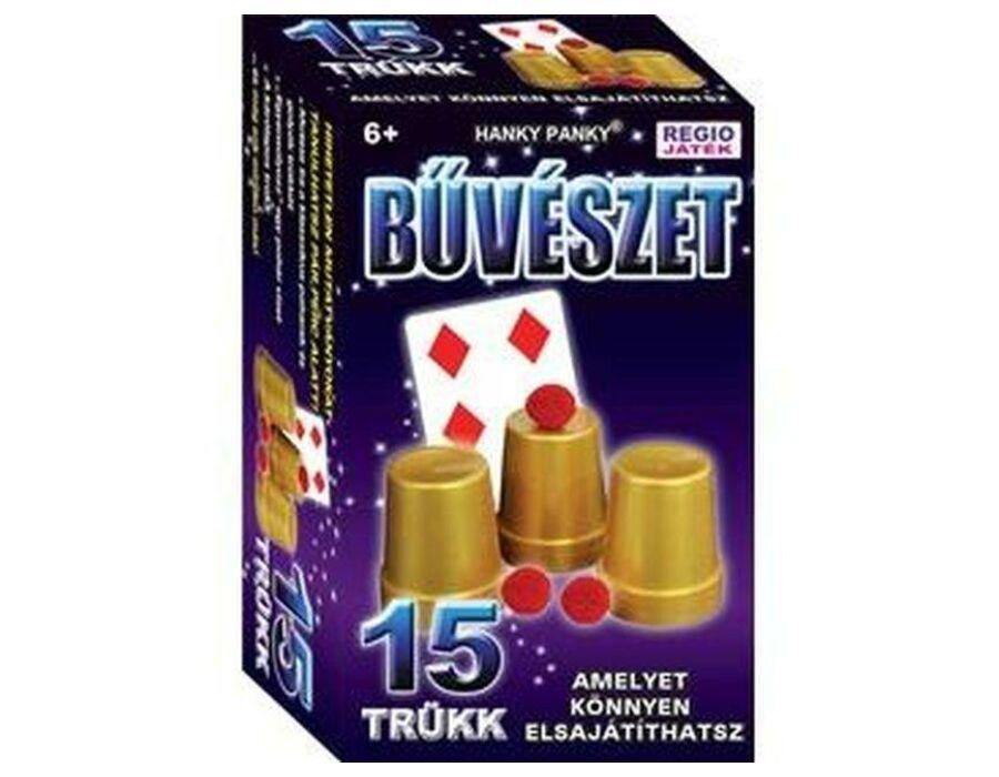 Magic Show poharak és golyók bűvészdoboz 15 trükk
