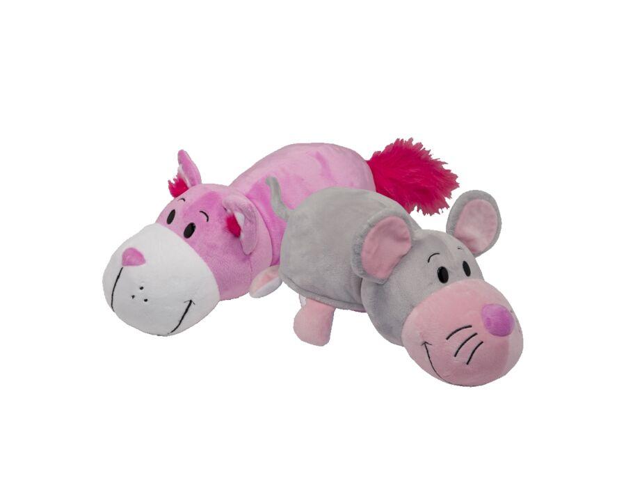 Plüsstesók - Rózsaszín cica/Egér