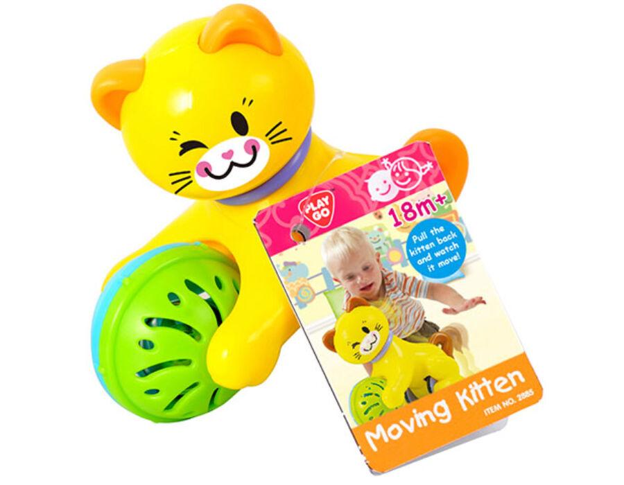 Playgo Hátrahúzható csörgős cica